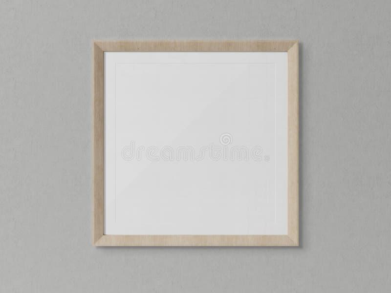 Ξύλινη τακτοποιημένη ένωση πλαισίων σε μια άσπρη τρισδιάστατη απόδοση προτύπων τοίχων ελεύθερη απεικόνιση δικαιώματος
