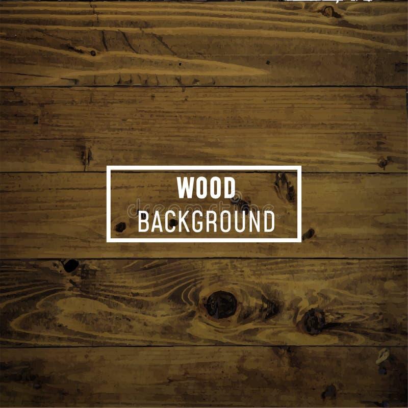 Ξύλινη, ξύλινη υπόβαθρο ή σύσταση διανυσματική απεικόνιση