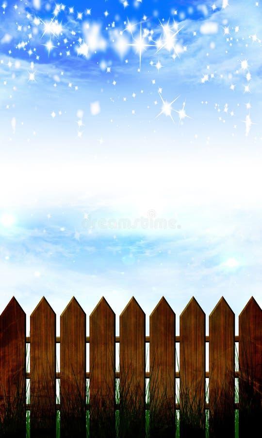 Ξύλινη φραγή απεικόνιση αποθεμάτων