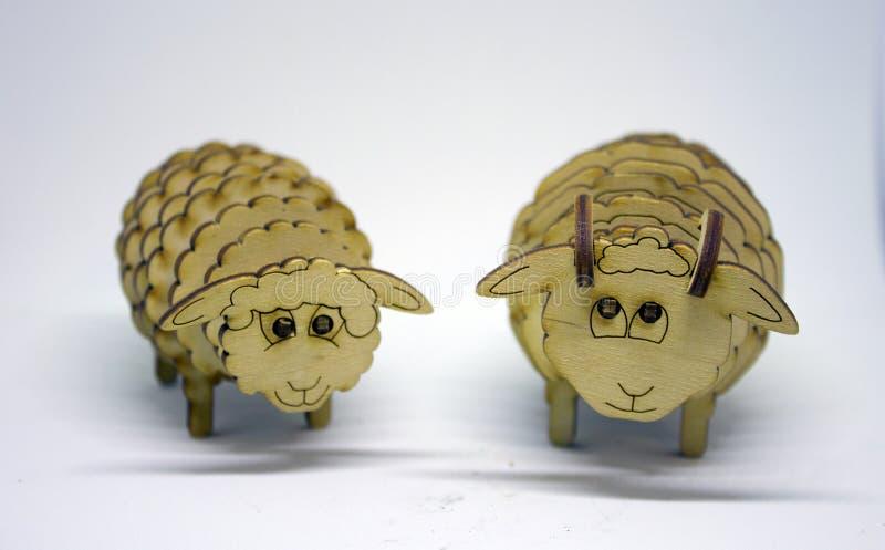 Ξύλινοι αριθμοί των sheeps στοκ εικόνα