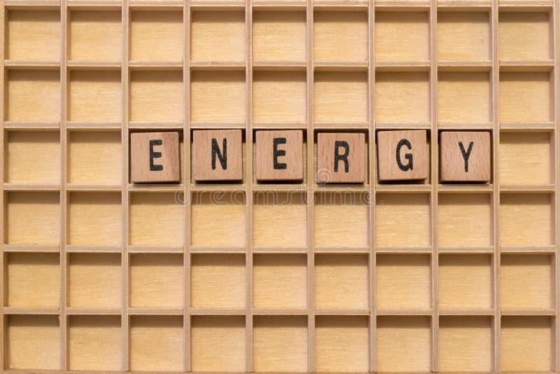 Ξύλινοι κύβοι με την ενέργεια λέξης σε το στοκ φωτογραφίες με δικαίωμα ελεύθερης χρήσης