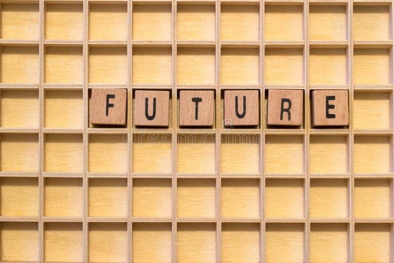 Ξύλινοι κύβοι με το μέλλον λέξης σε το στοκ φωτογραφίες με δικαίωμα ελεύθερης χρήσης