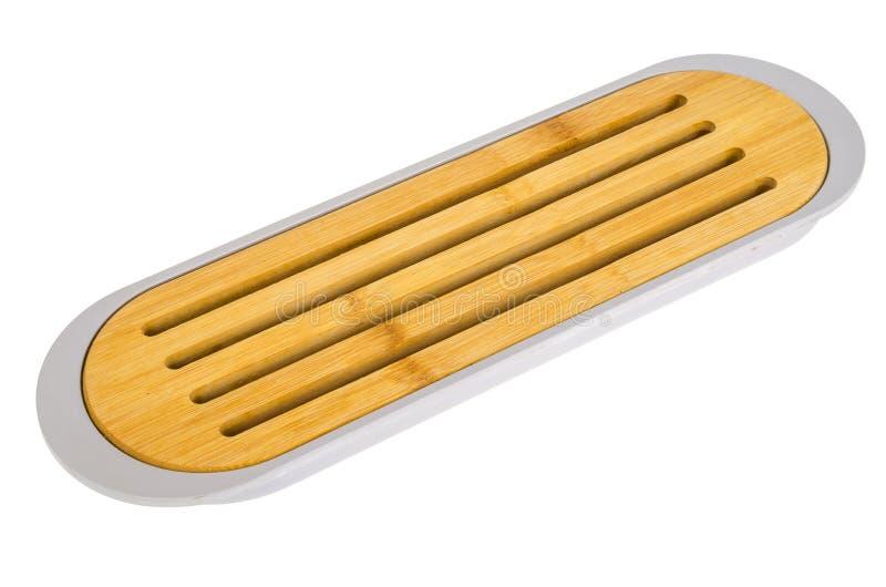 Ξύλινος πίνακας σημαδιών για το ψωμί που απομονώνεται στο άσπρο υπόβαθρο στοκ φωτογραφία με δικαίωμα ελεύθερης χρήσης