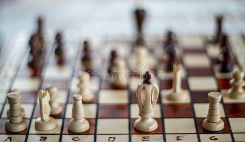 Ξύλινος πίνακας σκακιού στοκ εικόνα