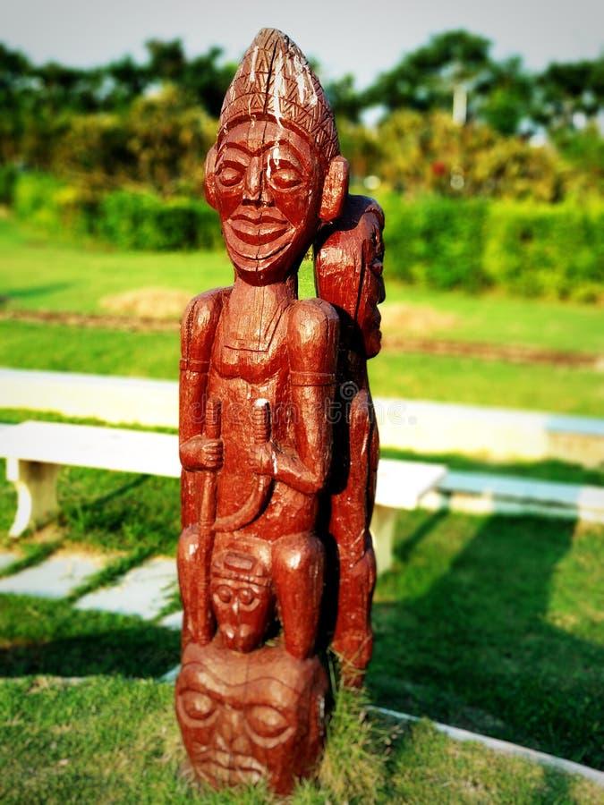Ξύλινο άγαλμα στοκ φωτογραφίες με δικαίωμα ελεύθερης χρήσης