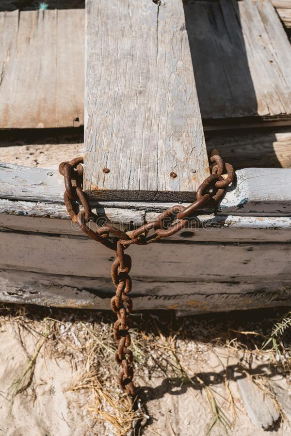Ξύλινο αλιευτικό σκάφος χωρίς μηχανή στοκ φωτογραφίες με δικαίωμα ελεύθερης χρήσης
