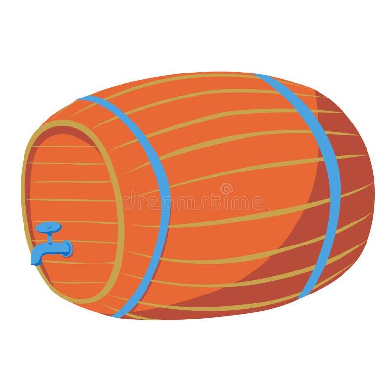 Ξύλινο βαρέλι με τη βρύση ελεύθερη απεικόνιση δικαιώματος
