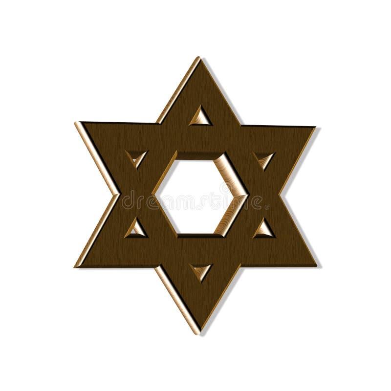 Ξύλινο εβραϊκό αστέρι στοκ φωτογραφίες
