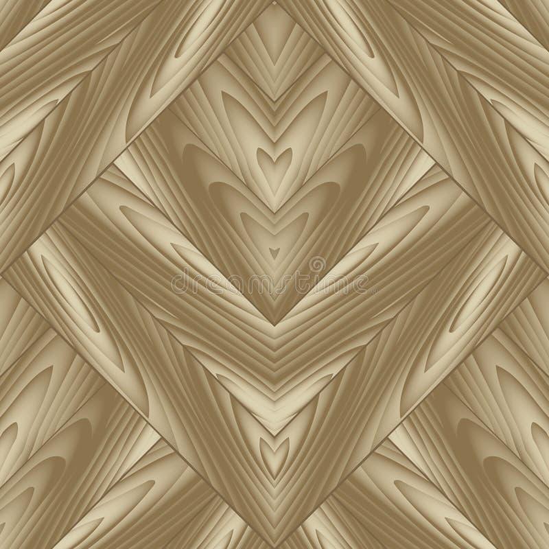 Ξύλινο κατασκευασμένο διανυσματικό άνευ ραφής σχέδιο Αφηρημένο ξύλινο backgroun απεικόνιση αποθεμάτων