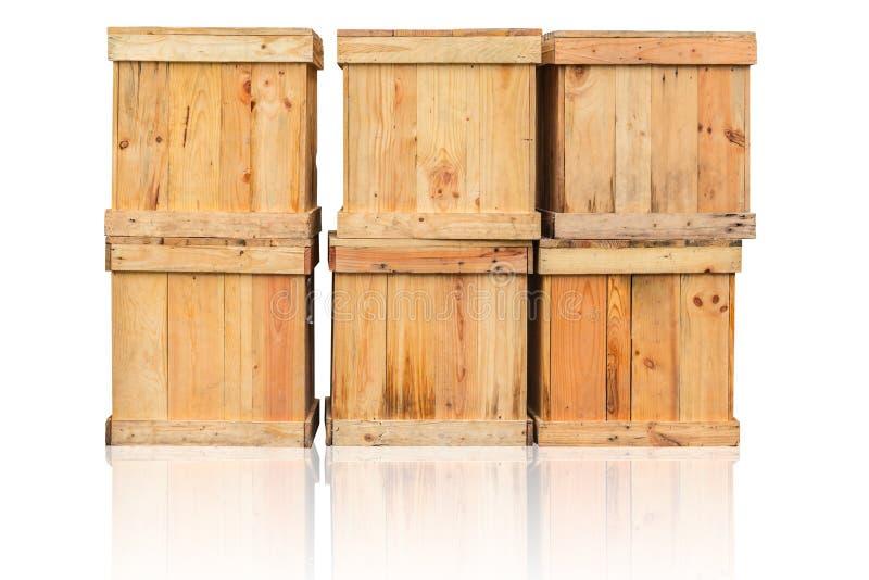 Ξύλινο κιβώτιο εμπορευματοκιβώτιο φορτίου αγαθών στη ναυτιλία στοκ εικόνες