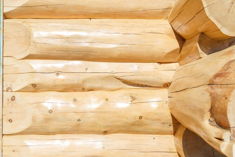 Ξύλινο κούτσουρο ξυλείας του σπιτιού στοκ φωτογραφίες