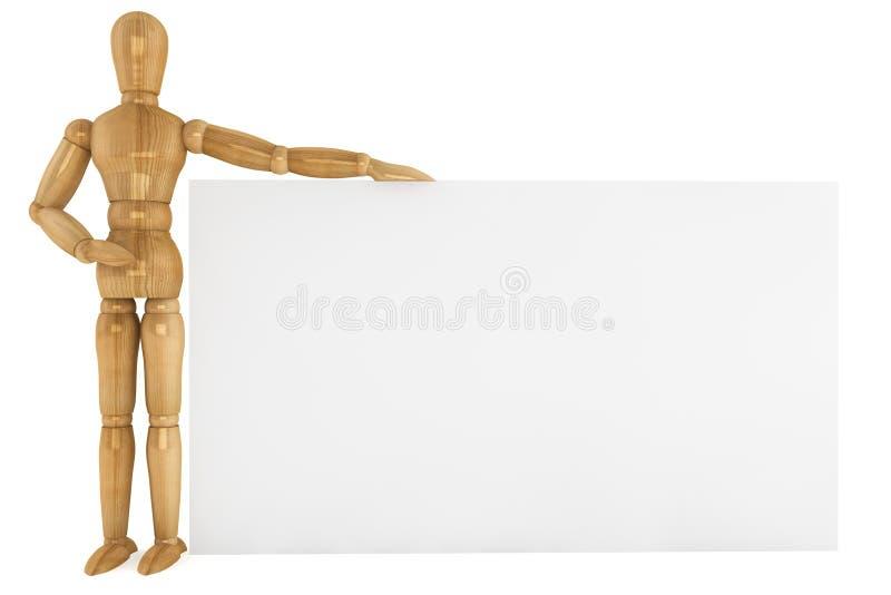 Ξύλινο ομοίωμα με το έγγραφο στοκ φωτογραφία με δικαίωμα ελεύθερης χρήσης