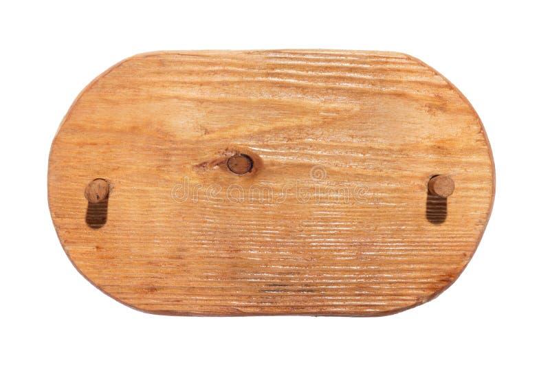 Ξύλινο πλαίσιο φιαγμένο από ελαφρύ ξύλο με το ξύλινο φίμωμα και με μια θέση για τη δημιουργικότητά σας απομονωμένος στοκ φωτογραφία
