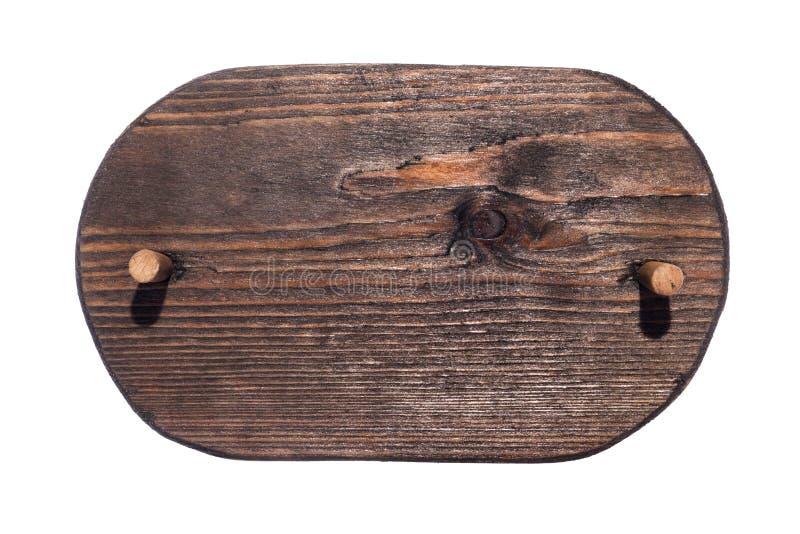 Ξύλινο πλαίσιο φιαγμένο από σκοτεινό ξύλο με το ξύλινο φίμωμα και με μια θέση για τη δημιουργικότητά σας απομονωμένος στοκ εικόνα με δικαίωμα ελεύθερης χρήσης