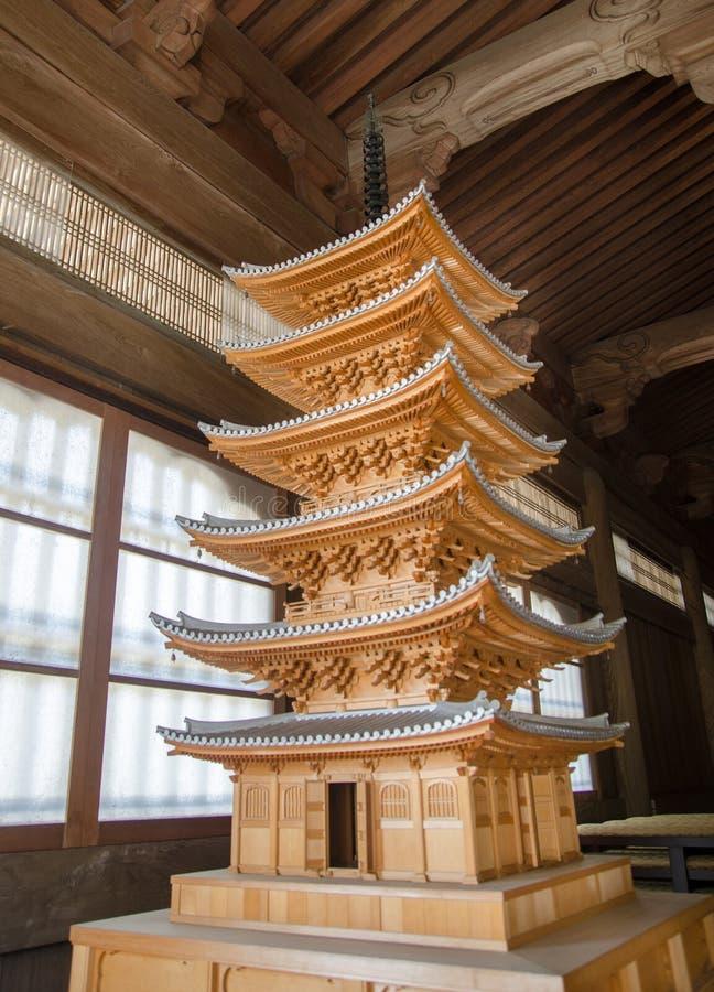 Ξύλινο πρότυπο της παγόδας έξι-πολυθρυλήτων Kamakura στοκ φωτογραφία με δικαίωμα ελεύθερης χρήσης