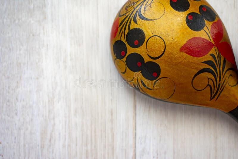 Ξύλινο ρωσικό κουτάλι στοκ εικόνες