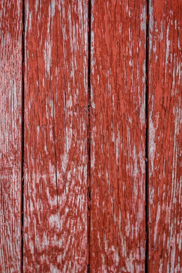 Ξύλινο υπόβαθρο σανίδων σύστασης, κόκκινο στοκ εικόνες