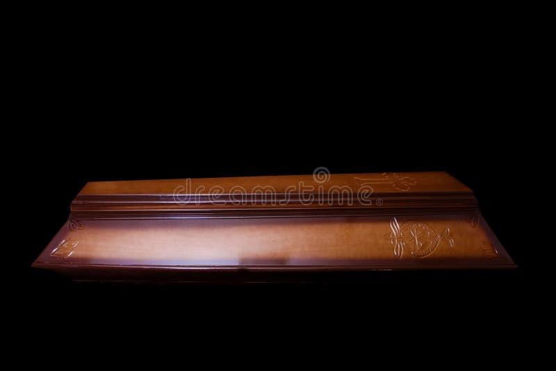 Ξύλινο φέρετρο στοκ εικόνες