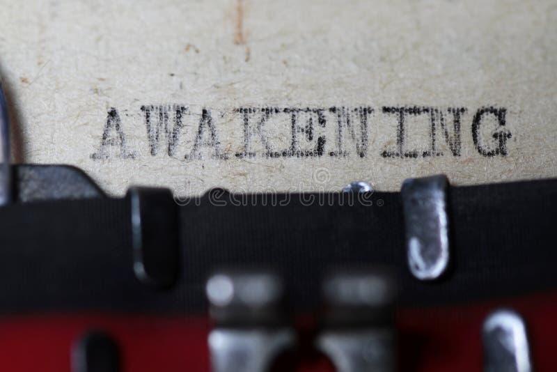 Ξύπνημα στοκ εικόνα