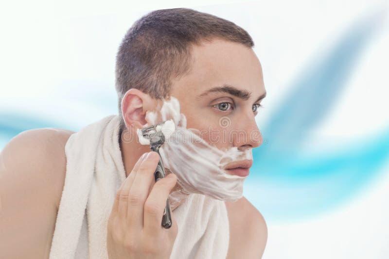 ξύρισμα ατόμων στοκ φωτογραφία