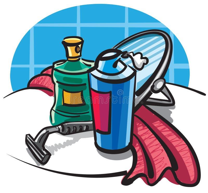 ξύρισμα εξαρτημάτων απεικόνιση αποθεμάτων