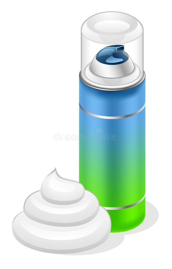 ξύρισμα κρέμας απεικόνιση αποθεμάτων
