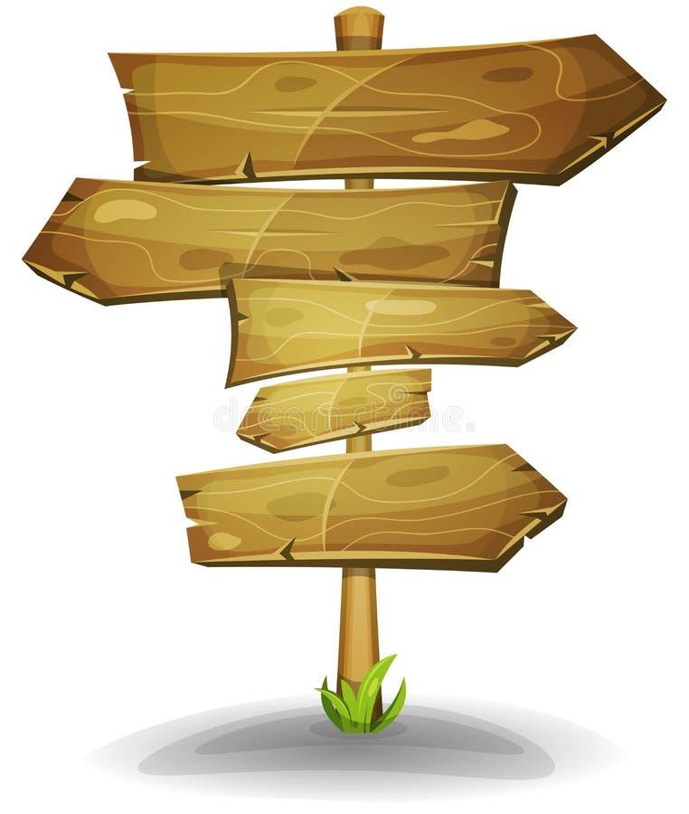 Ξύλινα βέλη οδικών σημαδιών διανυσματική απεικόνιση