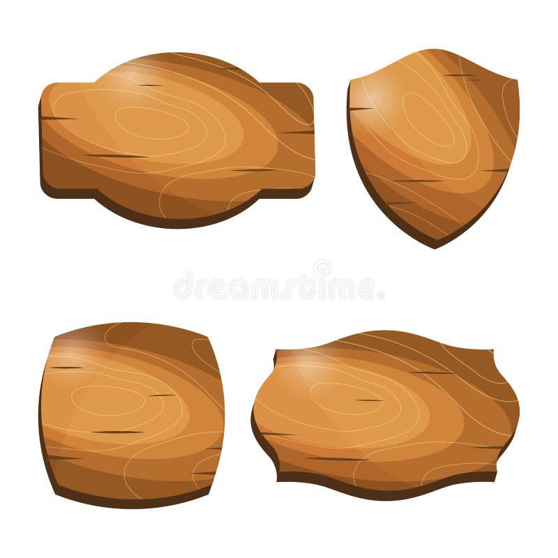 Ξύλινα εκλεκτής ποιότητας εμβλήματα πώλησης διακριτικών εμβλημάτων αυτοκόλλητων ετικεττών ετικετών απεικόνιση αποθεμάτων