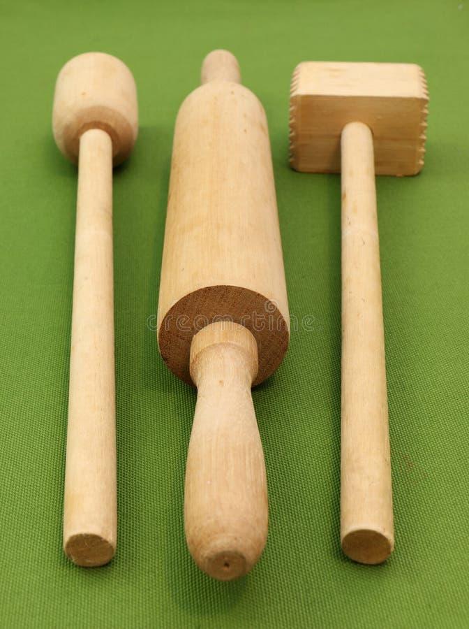 Ξύλινα εργαλεία κουζινών στοκ φωτογραφία
