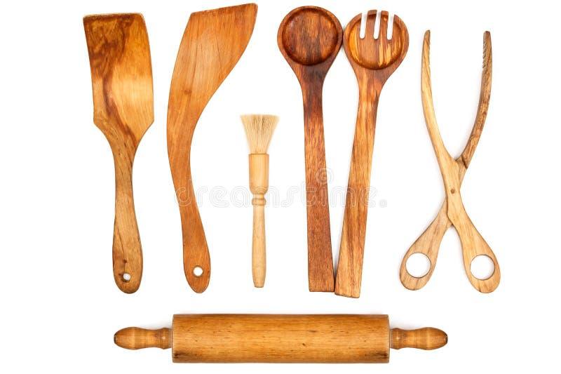 Ξύλινα εργαλεία κουζινών στοκ εικόνα