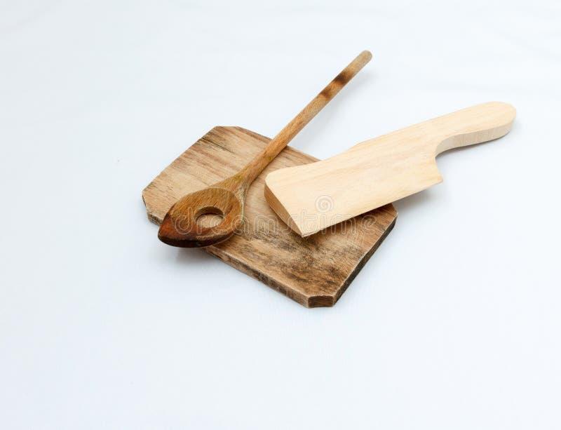 Ξύλινα εργαλεία cutboard και κουζινών στοκ εικόνες με δικαίωμα ελεύθερης χρήσης