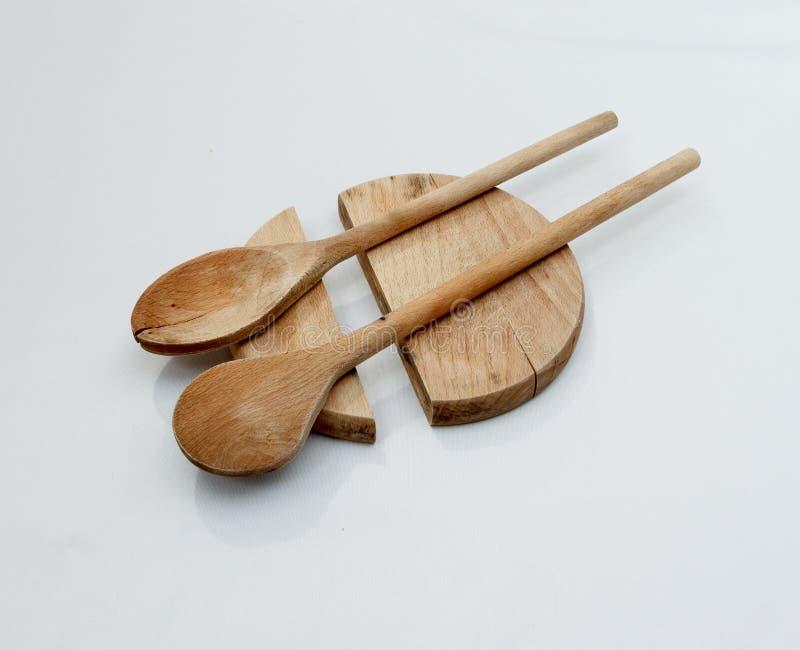 Ξύλινα εργαλεία cutboard και κουζινών στοκ φωτογραφία