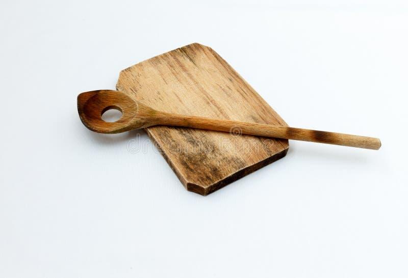 Ξύλινα εργαλεία cutboard και κουζινών στοκ εικόνες