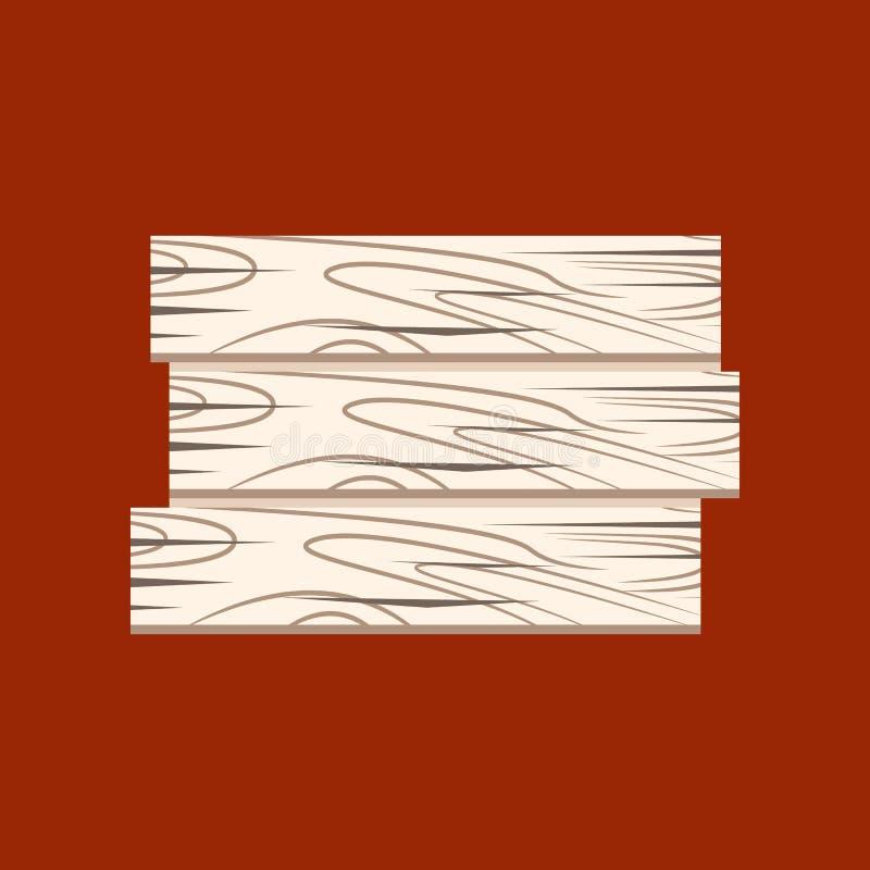 Ξύλινα κινούμενα σχέδια σημαδιών απεικόνιση αποθεμάτων