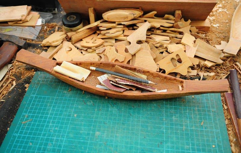 Ξύλινα πρότυπα σκαφών στοκ εικόνα με δικαίωμα ελεύθερης χρήσης