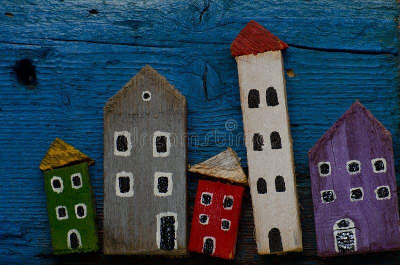 Ξύλινα σπίτια στοκ εικόνες