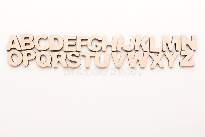 Ξύλινες αγγλικές επιστολές στοκ φωτογραφίες