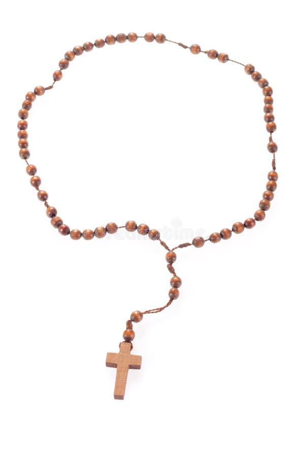 Ξύλινες rosary χάντρες στοκ εικόνα με δικαίωμα ελεύθερης χρήσης
