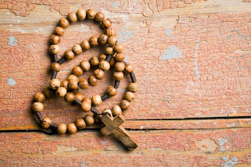 Ξύλινες rosary χάντρες στοκ εικόνες με δικαίωμα ελεύθερης χρήσης