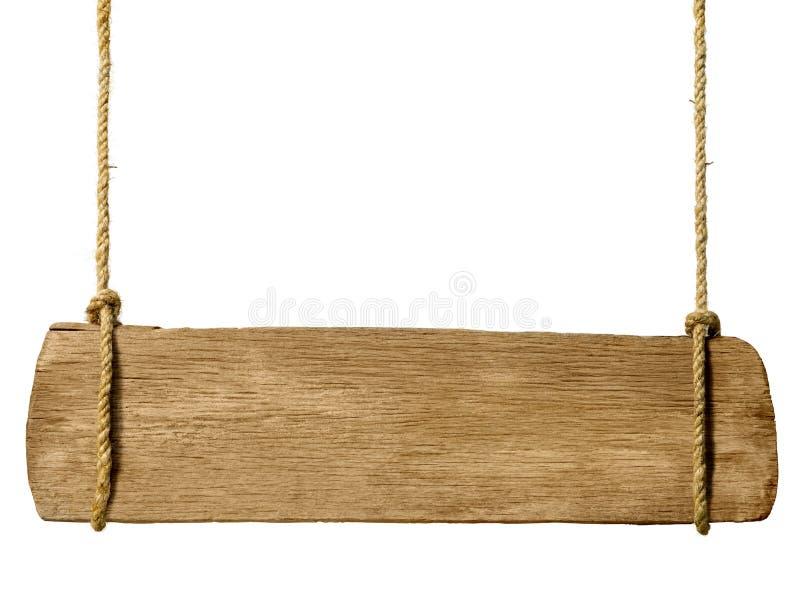 Ξύλινη ένωση σημαδιών από τα σχοινιά στοκ εικόνες με δικαίωμα ελεύθερης χρήσης