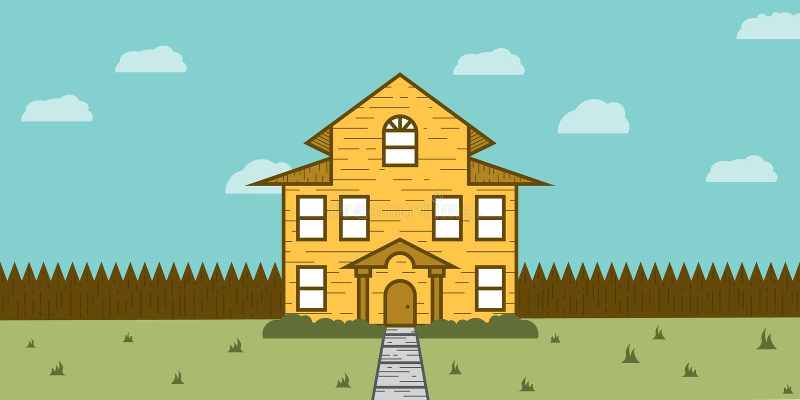 Ξύλινη ακίνητη περιουσία σπιτιών για την πώληση απεικόνιση αποθεμάτων