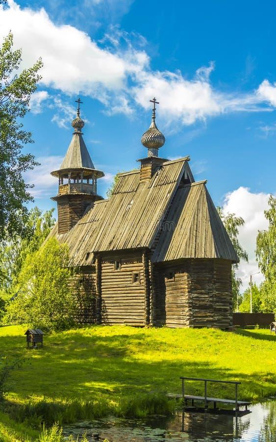 Ξύλινη αρχιτεκτονική, εκκλησία φιλεύσπλαχνο Savior στοκ εικόνα με δικαίωμα ελεύθερης χρήσης