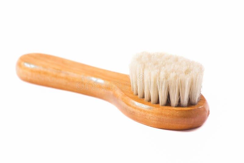 Ξύλινη βούρτσα με τις φυσικές ίνες στοκ φωτογραφία με δικαίωμα ελεύθερης χρήσης