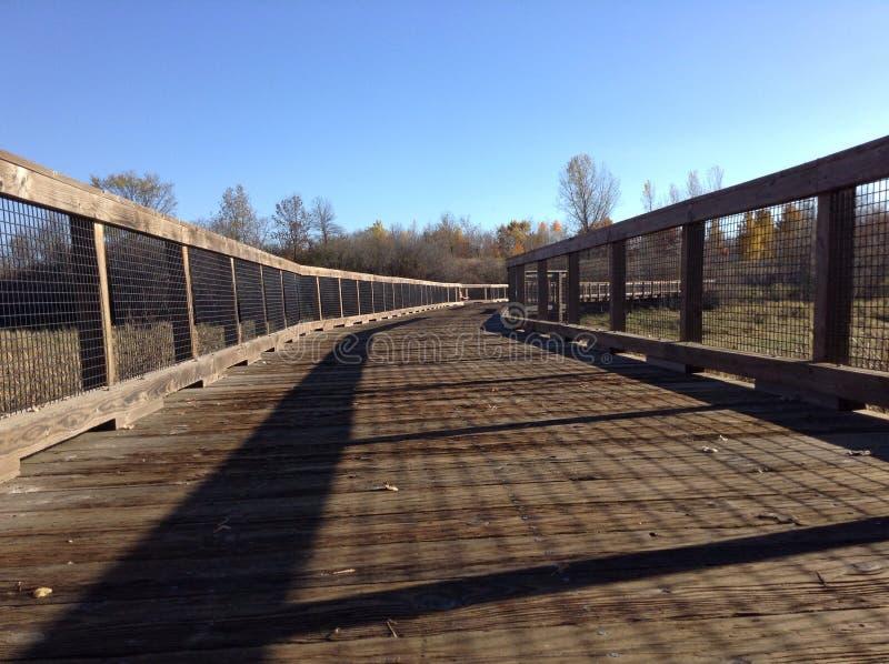 Ξύλινη γέφυρα στοκ εικόνα