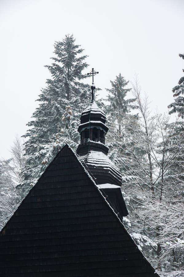 Ξύλινη εκκλησία στο istebna στοκ φωτογραφίες με δικαίωμα ελεύθερης χρήσης