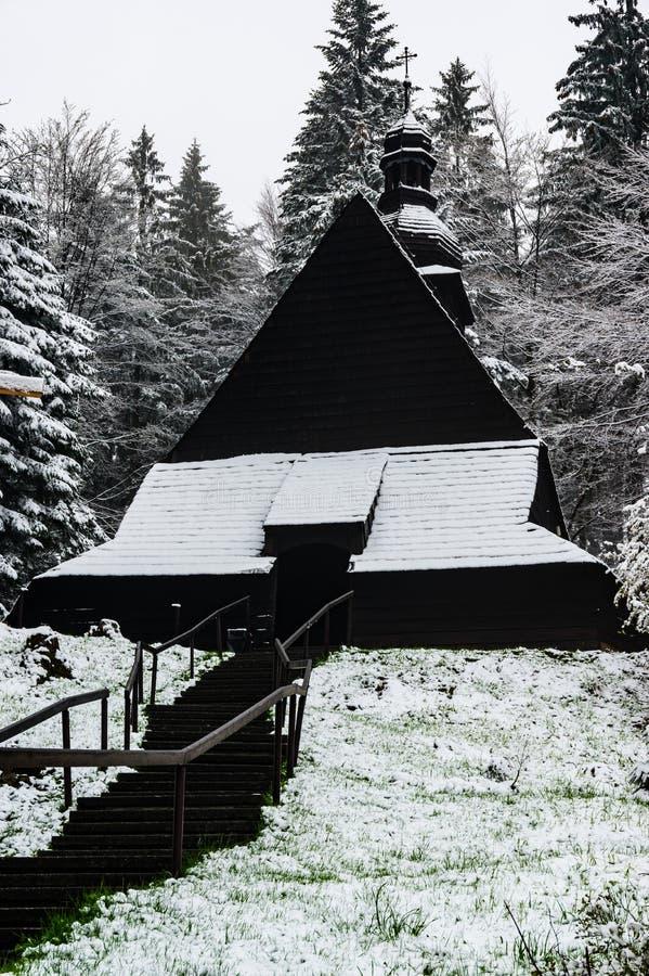 Ξύλινη εκκλησία στο istebna στοκ εικόνες με δικαίωμα ελεύθερης χρήσης