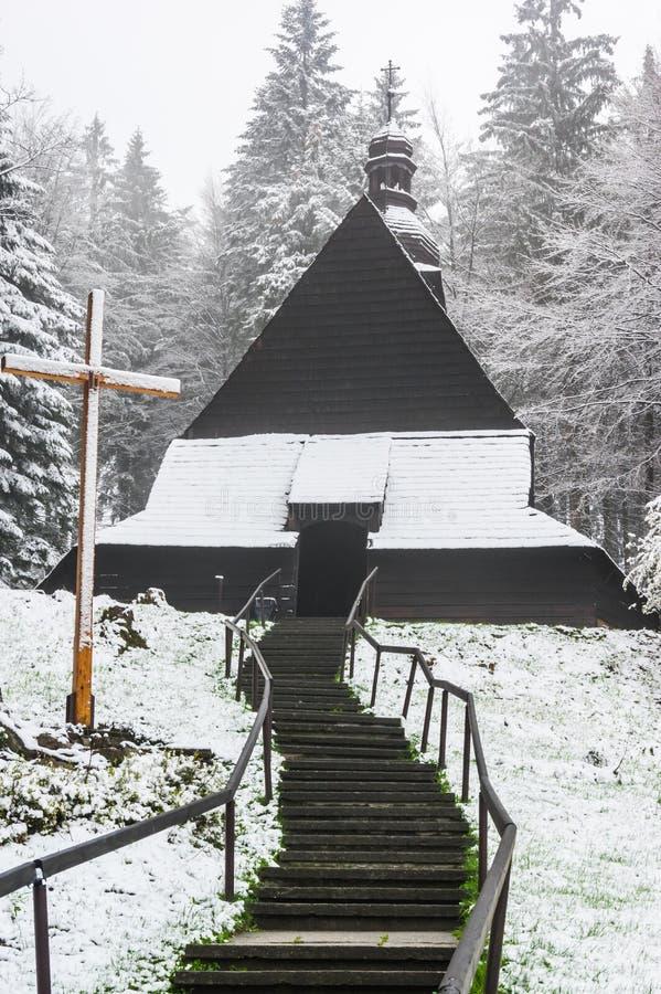 Ξύλινη εκκλησία στο istebna στοκ φωτογραφίες