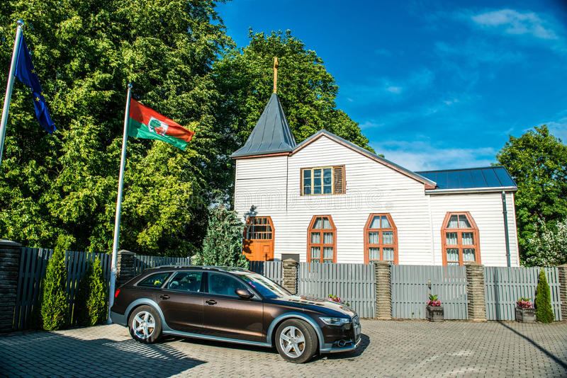 Ξύλινη εκκλησία Liepaja στοκ φωτογραφία με δικαίωμα ελεύθερης χρήσης