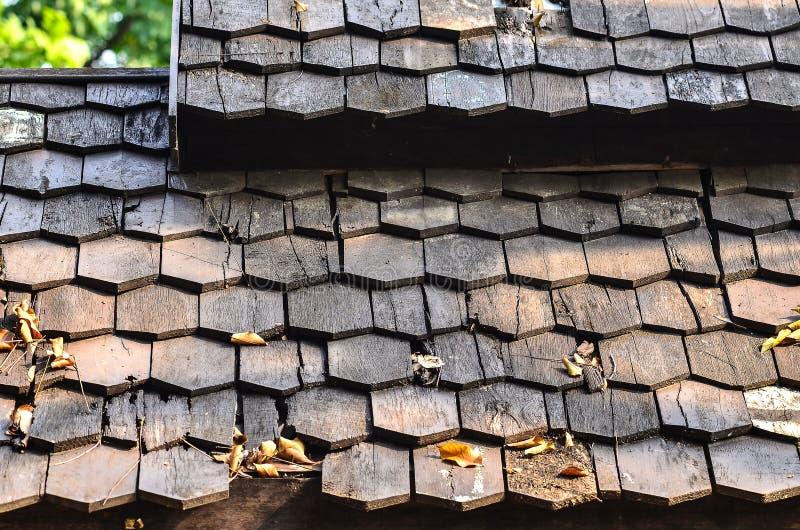 Ξύλινη λεπτομέρεια σχεδίων υλικού κατασκευής σκεπής στοκ φωτογραφία με δικαίωμα ελεύθερης χρήσης