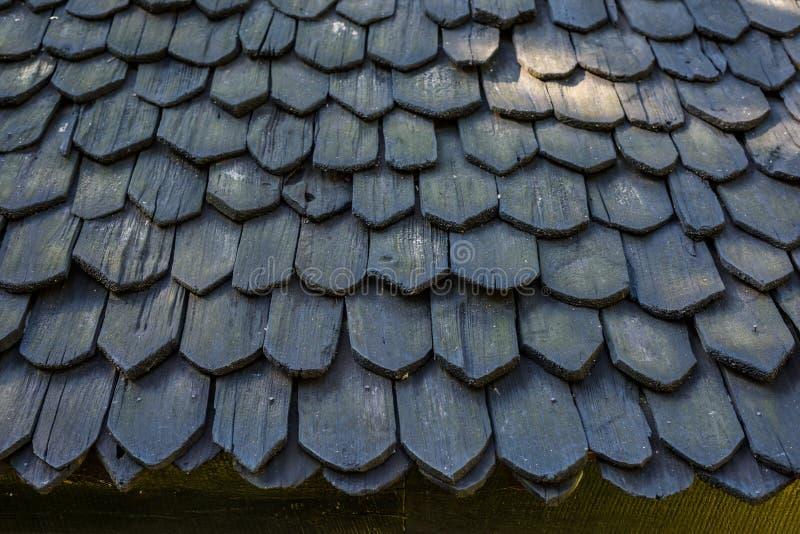 Ξύλινη λεπτομέρεια σχεδίων υλικού κατασκευής σκεπής στοκ εικόνες